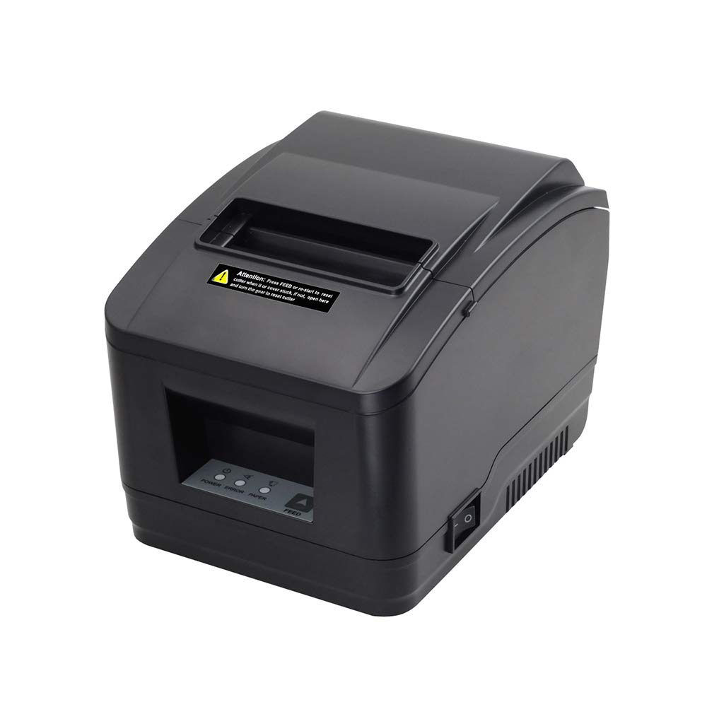 MUNBYN USB 3'1/8 80mm Thermal Receipt Printer Pos Printer with Auto Cutter ESC/POS Command Support Windows Mac Pos System