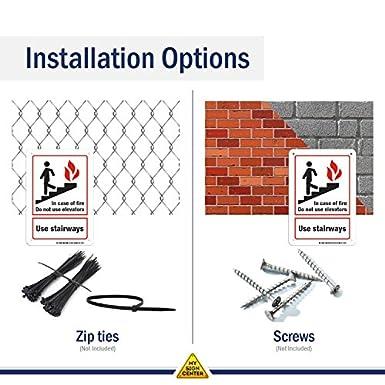 En caso de incendio no utilizar ascensores uso las escaleras ...