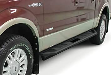 APS Off-Road 6.5in Side Armor Aluminum Running Boards Custom Fit 2009-2014 Ford F150 SuperCrew Cab Pickup 4-Door Nerf Bars Side Steps Side Bars