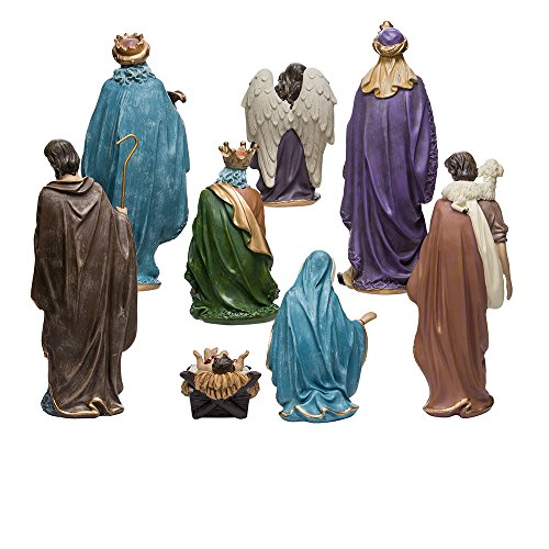 Kurt Adler Resin Nativity Figurine Set 9 Inch Set Of 8 Home Garden Decor Seasonal Holiday