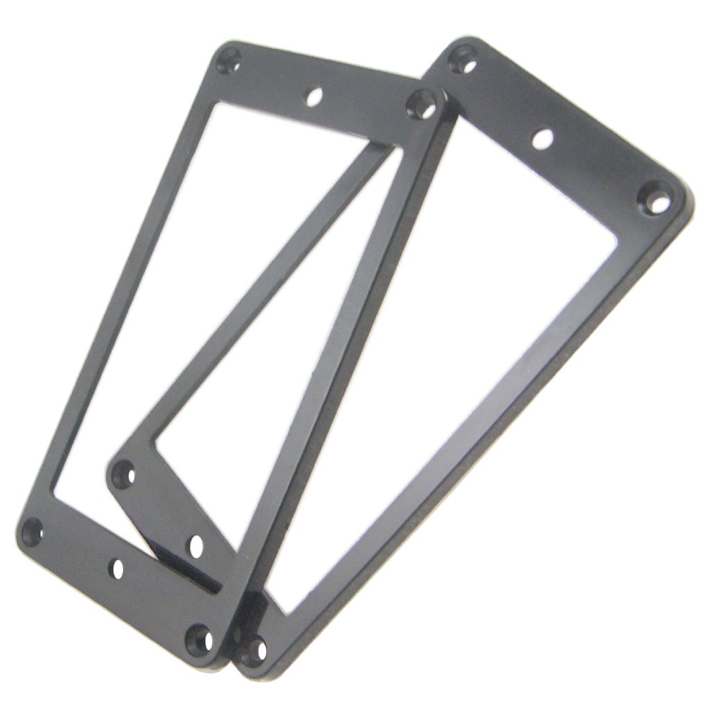 Baoblaze Set of 2 Black Plastic Electric Guitar Humbucker Double Coil Pickup Mounting Frame Cover 3.62 x 1.80inch