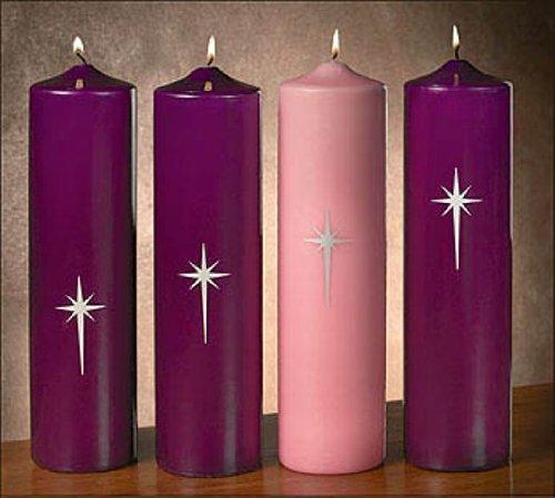 [해외]Star Of Bethlehem Advent Pillar Set (4807-0) / Star Of Bethlehem Advent Pillar Set (4807-0)