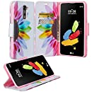 LG Stylo 2 Case, LG Stylo 2 V Case, Wrist Strap Flip Folio [Kickstand Feature] Pu Leather Wallet Case with ID & Credit Card Slot For LG Stylo 2 / LG Stylo 2 V Wallet, Sun Flower