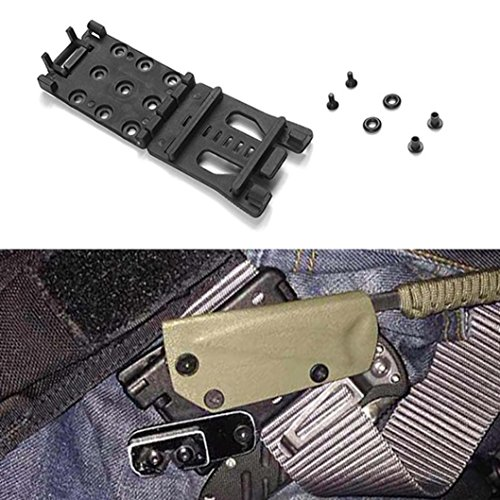 Dreamyth Quick Pull Waist Belt Clip Clamp With K Sheath Scabbard Camping Hiking EDC Tool Durable