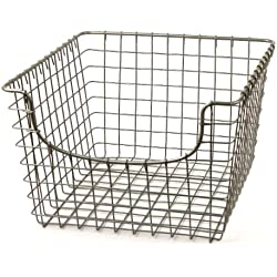 Spectrum Diversified Scoop Wire Storage Basket, Medium, Satin Nickel