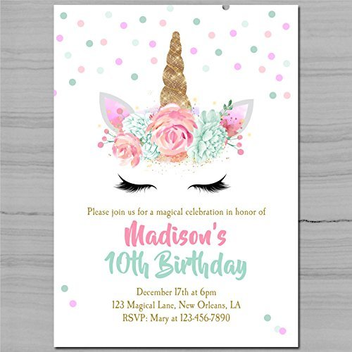 image about Printable Invitations called : Unicorn Birthday Invitation Printable or Revealed
