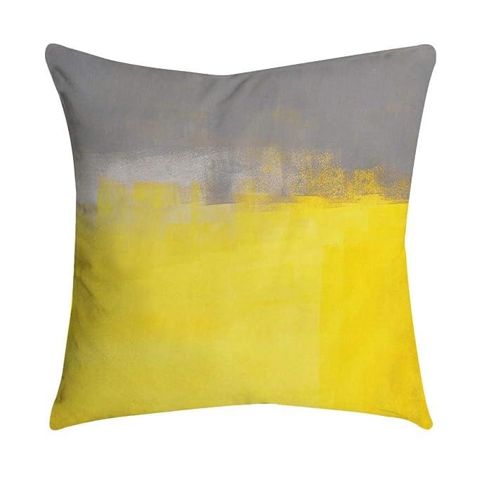 VJGOAL Moda Casual Funda de Almohada de impresión Amarilla ...