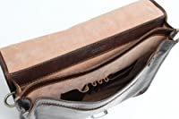 Alberto Bellucci Dark Brown Double Compartment Italian Leather Messenger Brief from Alberto Bellucci