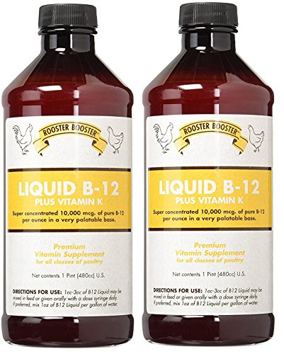 (2 Pack) Rooster Booster B-12 Liquid, 16-Ounce