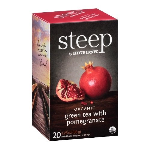 Steep Bigelow Organic Green Tea with Pomegranate - 20 bags