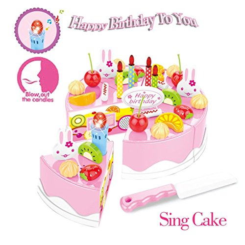 New Singing Birthday Cake Toy With Light And Sound Sings Happy