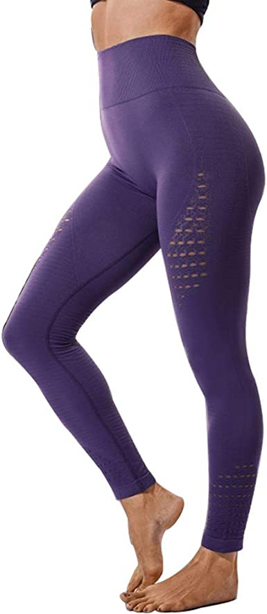 Womens Yoga High Waisted Gym Leggings Fitness Sports Running Training Trousers