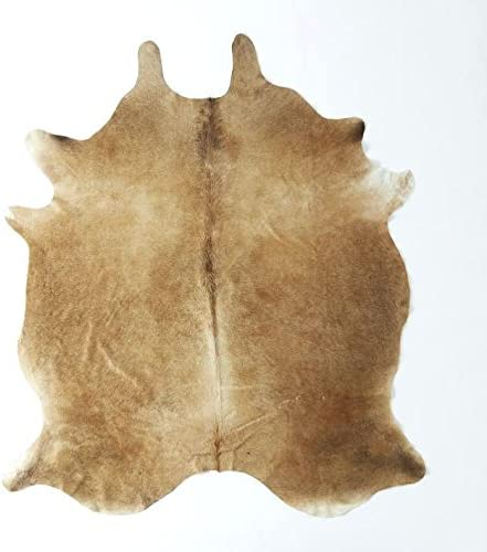 RODEO Peanut Butter Exotic Brown Cowhide Cowskin hides Rug PB67 Size Approx 6×7 ft