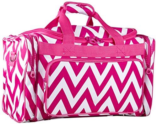 Ever Moda Pink Chevron Duffle Bag 22-inch