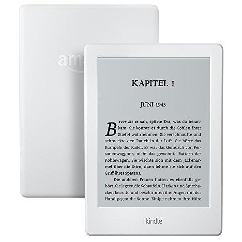 Der neue Kindle eReader, 15,2 cm (6 Zoll) Touchscreen ohne Spiegeleffekte, WLAN (Weiß) - mit Spezialangeboten
