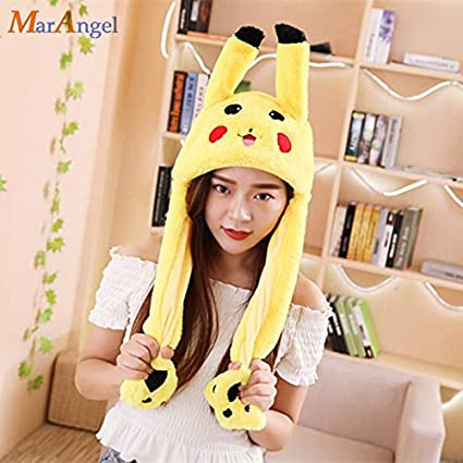 Kleidung & Accessoires Analytical New Plush Stitch Ear Toys Hats Pinching Moving Ears Winter Animals Caps Girls Cosplay Party Performance Costume