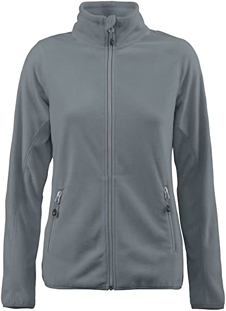 7 Colours Ladies Micro Fleece Light Active Zip Fleece S-3XL James Harvest