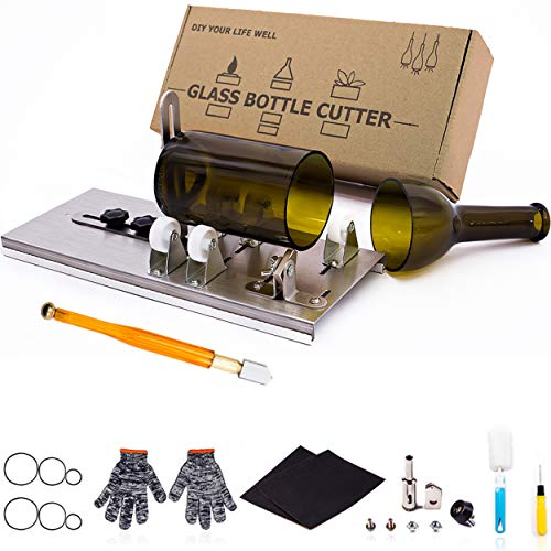 Glass Bottle Cutter, Upgraded Bottle Cutting Tool Kit, DIY Machine for Cutting Wine, Beer, Liquor, Whiskey, Alcohol…