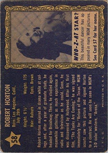 1953 Who-Z-At Star #58 Robert Horton - FAIR