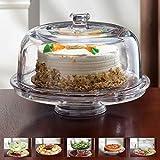 Glas Kuchenplatte 6 In 1 Tortenplatte Servierplatte Mit Fuß Und
