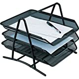 Lifestyle-You Metal Mesh Document Tray File Rack with 3 Tiers