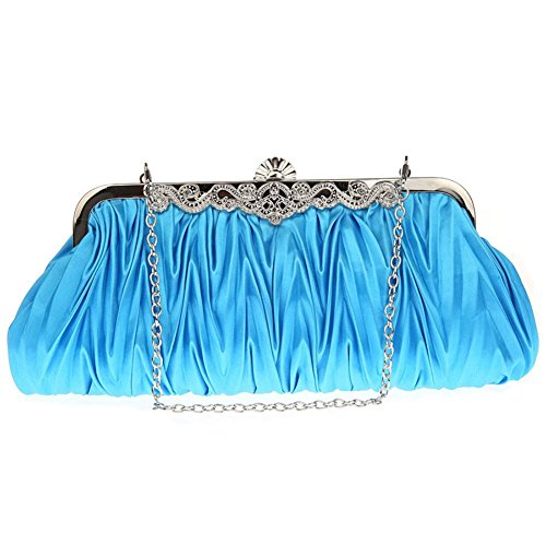 evening Elegant bag Light evening ZYXCC Women's bag Fashion Messenger SHISHANG blue bag Luxury bag wn5FqRWY