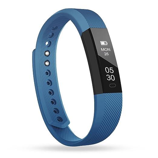 55 opinioni per Fitness Tracker, Lintelek Braccialetto Intelligente Pedometro, Conta Calorie,