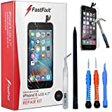 iPhone 6 Screen Replacement Black LCD Premium Complete Repair Kit with Tools - Easy Manuals Videos and Instructions - with Glass Screen Protector