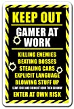 playstation 4 detail stickers - KEEP OUT GAMER AT WORK Sign xbox ps3 ps4 playstation warning| Indoor/Outdoor | 17
