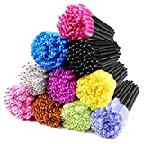 500PCS Disposable Mascara Wands Applicators Multicolored Mascara Brushes Makeup (10 colors)