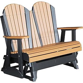 Exceptionnel LuxCraft Recycled Plastic 4u0027 Adirondack Glider Chair