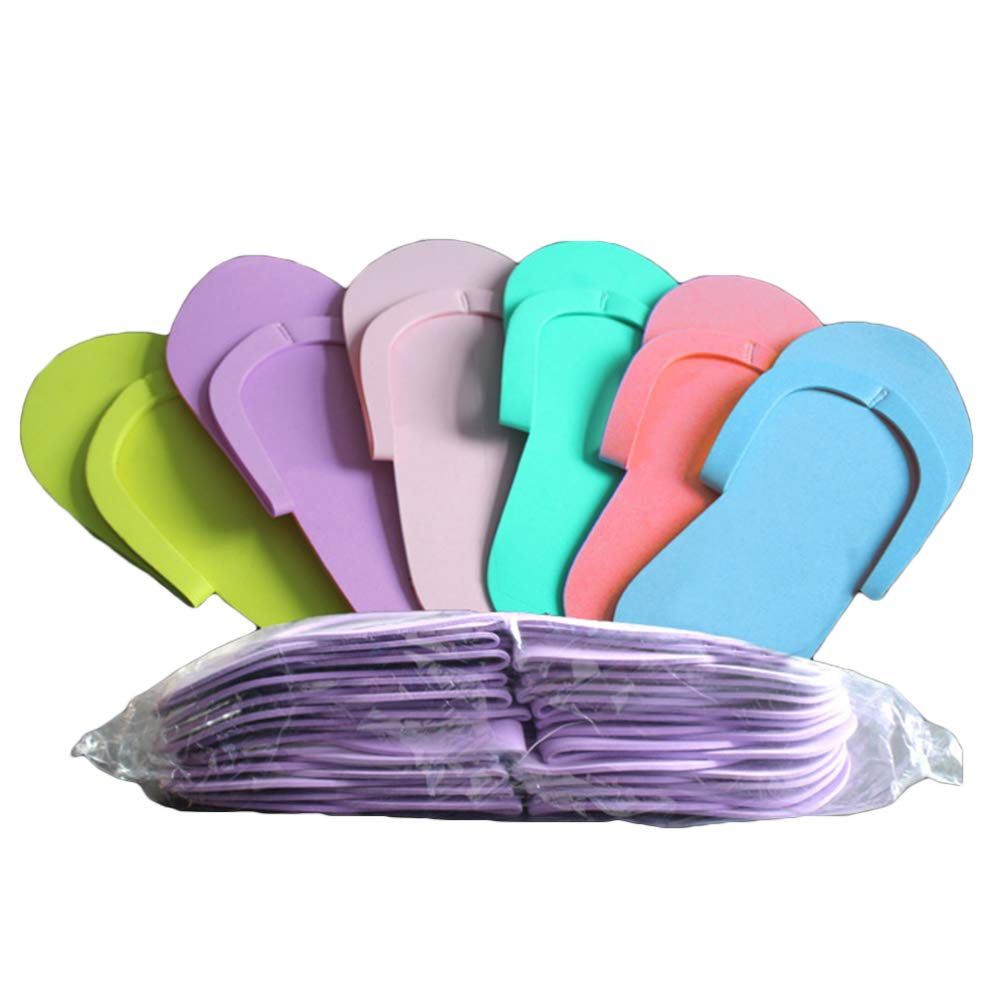 Heallily Disposable Slippers 72 Pairs Foam Slippers Non-Slip Foam Pedicure Slippper, Fits Most Men and Women