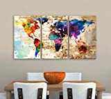 """Sold by BoxColors From USA - You will receive the Original Image - Sending from the United States - Made in the United States SIZE: 30"""" x 60"""" x 1.5"""" depth (30""""x 20""""x 1.5"""" depth each panel) Type: Giclee artwork, print on the artist cotton Canvas. UV-p..."""