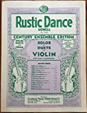 img - for Rustic Dance for Violin and Piano (with separate piano-accompaniment-score pull-out) book / textbook / text book