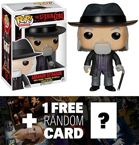 Abraham Setrakian: Funko POP! x The Strain Vinyl Figure + 1 FREE American TV Themed Trading Card Bundle [63160]