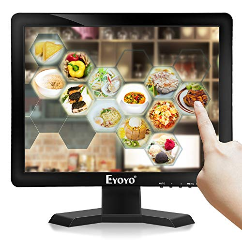 Eyoyo 15 inch Touch Screen Monitor POS Monitor HDMI VGA LCD Monitor 4:3 Display 1024×768 w/Built-in Speaker for POS System Industrial Equipment Computer Laptop (Best Industrial Touch Screen Monitor)