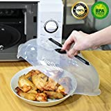 Microwave Plate Cover , YunShine Hover Cover Magnetic Microwave Splatter Guard , Magnetic Microwave Splatter Lid With Steam Vent , Adsorbed Function Safe Convenient , BPA-FREE 11.5 inch