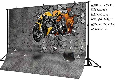 10x15 FT Backdrop Photographers,Born to be Wild Quote with A Cool Dog Motorcycle Helmet Puppy Rider Animal Graphic Background for Kid Baby Artistic Portrait Photo Shoot Studio Props Video Drape