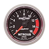 "Auto Meter 3674 Sport-Comp II 2-1/16"" 0-1600 PSI Full Sweep Electric Nitrous Pressure Gauge"