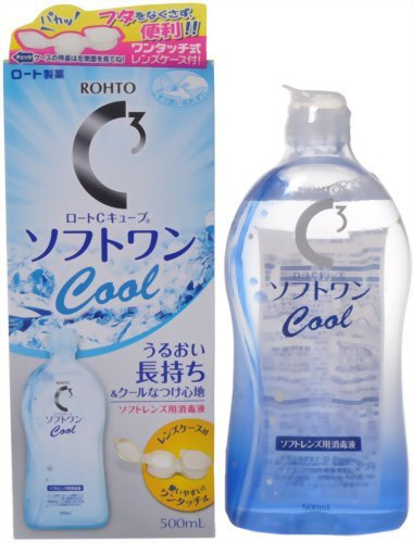 Rohto C Cube Contact Soft Lens Cleaning Soft One Cool A 500ml (Harajuku Culture Pack) ()