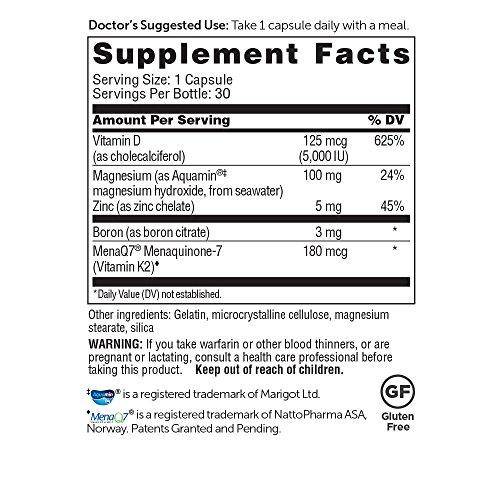 Amazon.com: Dr. Whitakers BeyonD3 - Vitamin D3, Vitamin K2 MK7, Magnesium, Boron, and Zinc – Premium Co-Factors for Bone, Muscle, Immune, ...