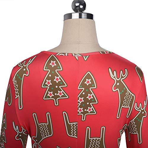 Cartoon Ragazze Red Abiti Red Donne Le Natale Per XXL Costumi Natale Costumi Prestazioni Autunno Babbo Abiti Regali S8w1Aq48