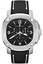 Burberry Britain Octagonal Stainless Steel Chronograph Watch - Stainless Steel-Black
