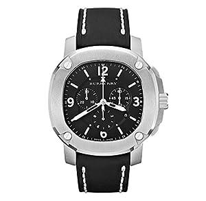 Swiss The BRITAIN LumiNova Black Leather Burberry Men Luxurious Chronograph Watch BBY1100