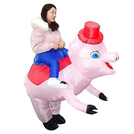 vanpower - Disfraz de Cerdo Inflable para Adultos y niños ...