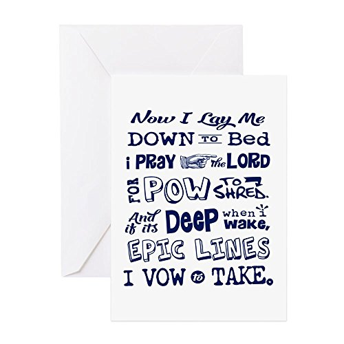 Edge Telemark Skis (CafePress - Snow Prayer - Greeting Card, Note Card, Birthday Card, Blank Inside Matte)
