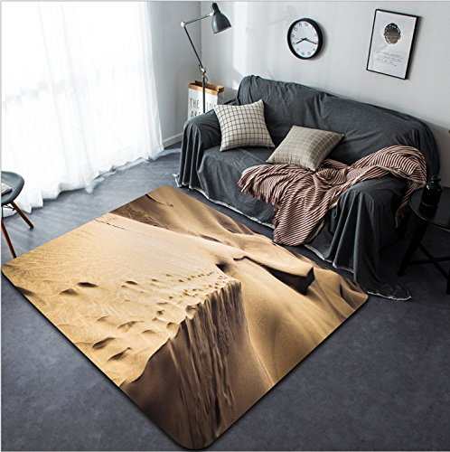 Vanfan Design Home Decorative 430745659 Sandy dunes in famous natural Maspalomas beach on Gran Canaria Spain Modern Non-Slip Doormats Carpet for Living Dining Room Bedroom Hallway Office Easy Clean F by vanfan