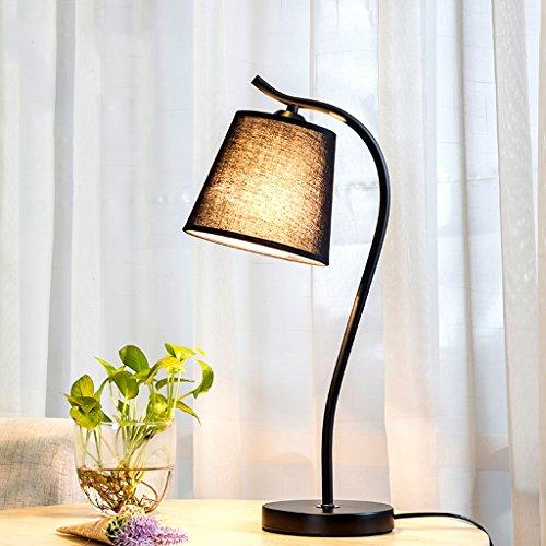 XUANLAN Lámpara de mesa de tela creativa nórdica, lámpara ...