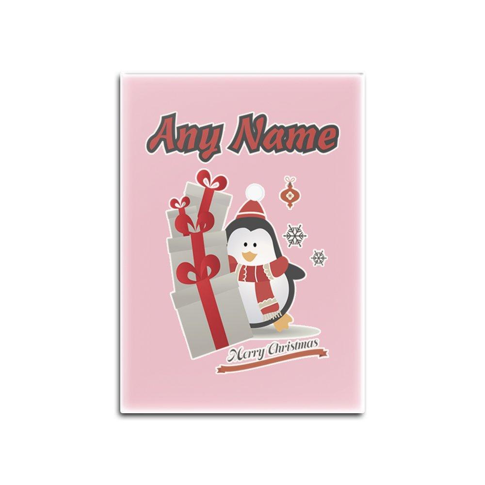 UNIGIFT Regalo Personalizable, diseño de pingüino con imán para ...