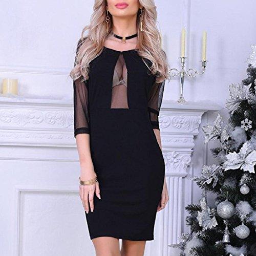 b7158cb7cc7 ... Minikleid Schwarz Sommerkleider Partykleid Cocktailkleid Abendkleid  Bodycon Knielang Ärmellos Kleid Paolian Frauen Damen Clubwear ...